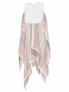 JW Anderson striped handkerchief hem dress - 649/000 Multi
