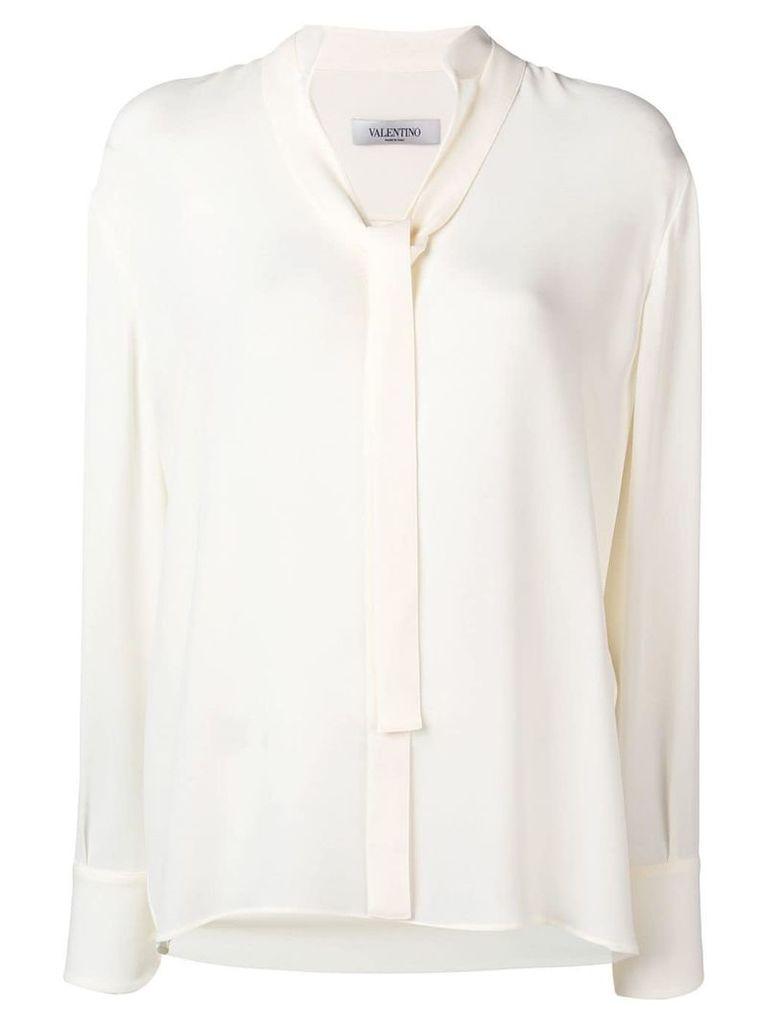 Valentino tie-front blouse - White