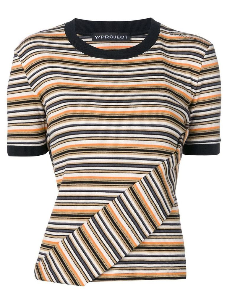 Y/Project striped T-shirt - Black