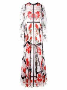 Alexander McQueen floral gown - White