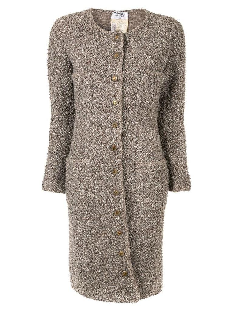 Chanel Vintage CHANEL Vintage CC Logos Long Sleeve coats - Brown