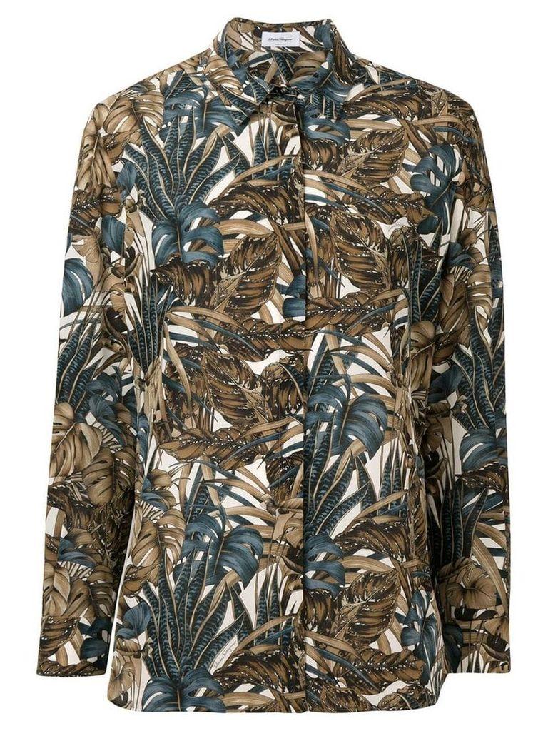 Salvatore Ferragamo foliage print shirt - Neutrals
