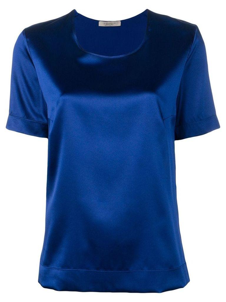 D.Exterior shortsleeved blouse - Blue