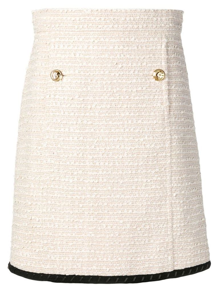 Gucci tweed A-line skirt - Neutrals