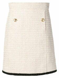 Gucci tweed A-line skirt - Neutrals