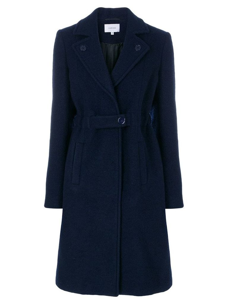 Carven single breasted coat - Blue