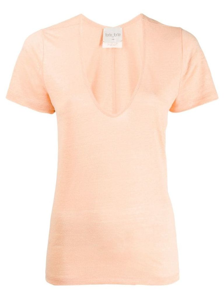 Forte Forte scoop neck T-shirt - Orange