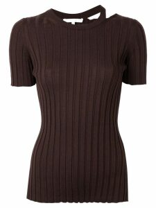 Helmut Lang crew neck top - Brown
