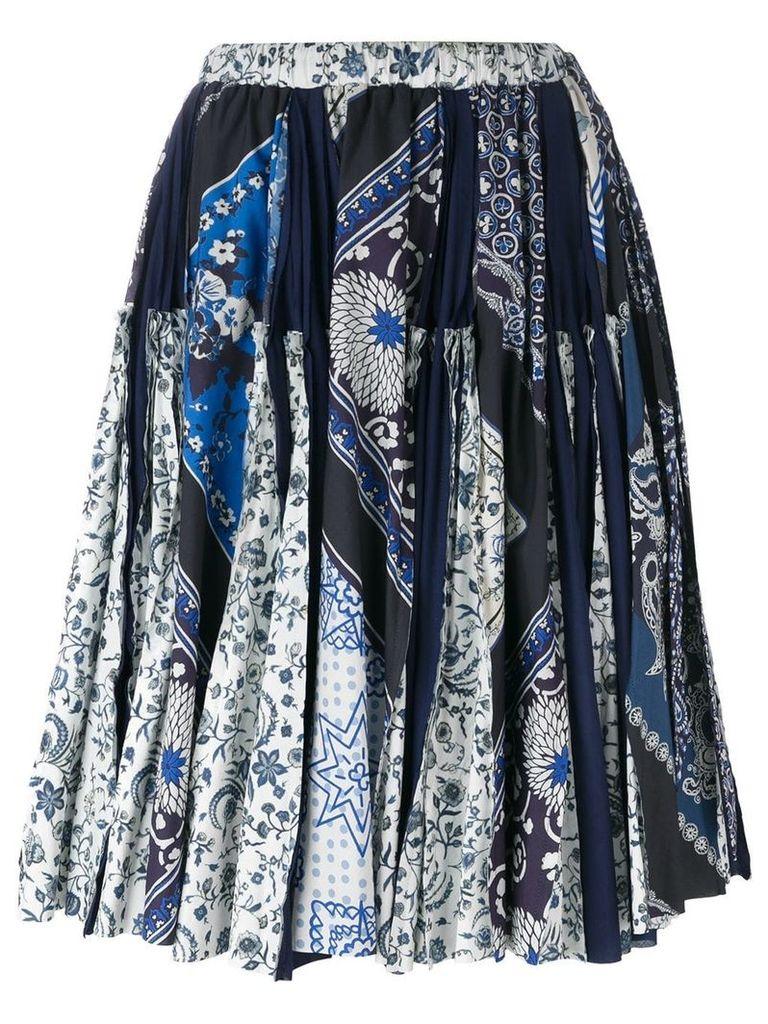 Wunderkind scarf print skirt - Blue
