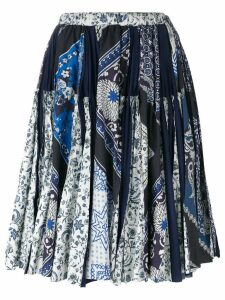 Wunderkind scarf print skirt - Blue