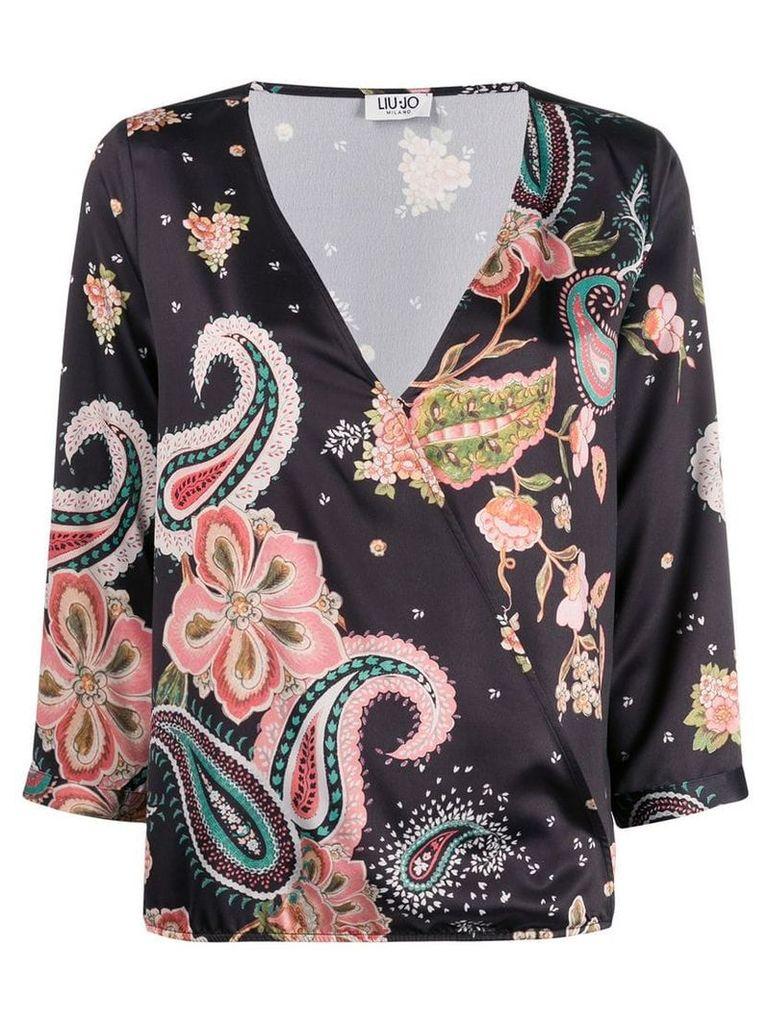 Liu Jo paisley floral print blouse - Black