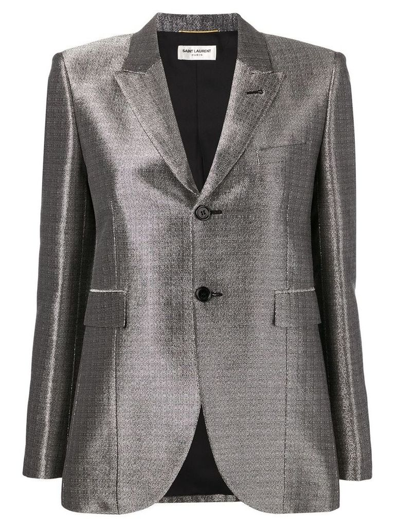 Saint Laurent peaked lapel blazer - Metallic