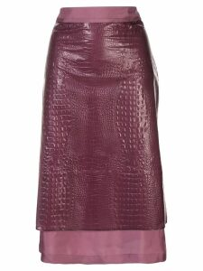 Sies Marjan crocodile embossed skirt - PURPLE