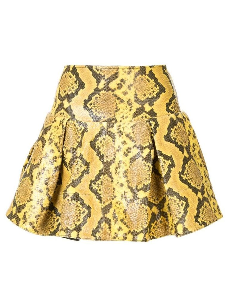 Marques'Almeida snake print effect skirt - Yellow