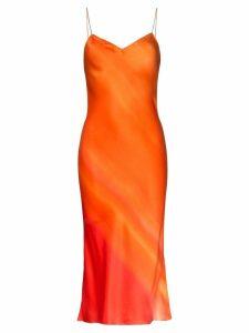 Poiret midi slip dress - Orange
