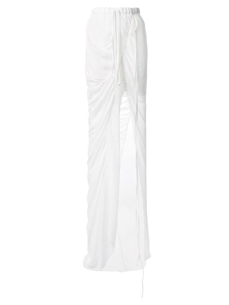 Vera Wang draped skirt - White