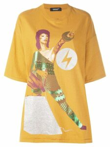 UNDERCOVER David Bowie oversized T-shirt - Yellow