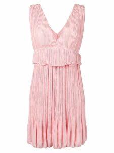Chloé waist ruffles pleated dress - Pink