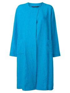 Daniela Gregis plain coat - Blue