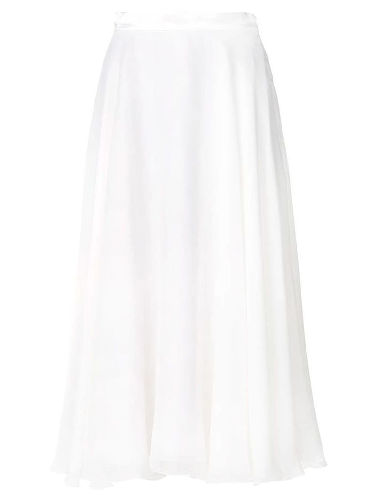 Lanvin satin trim skirt - White