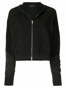 Andrea Ya'aqov cropped hooded sweatshirt - Black