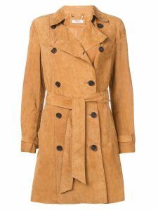Desa 1972 double breasted coat - Brown