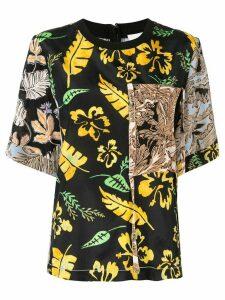 3.1 Phillip Lim contrast floral T-shirt - Multicolour