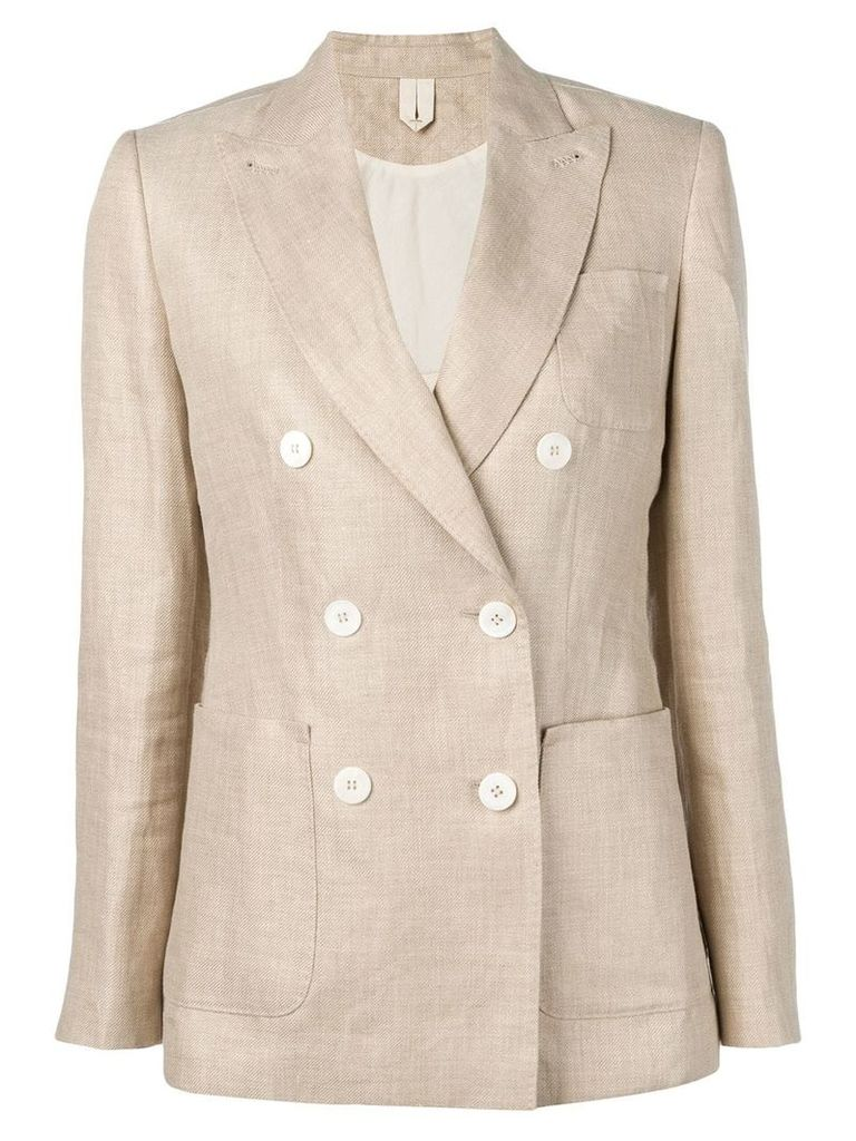 Max Mara double breasted blazer - Neutrals