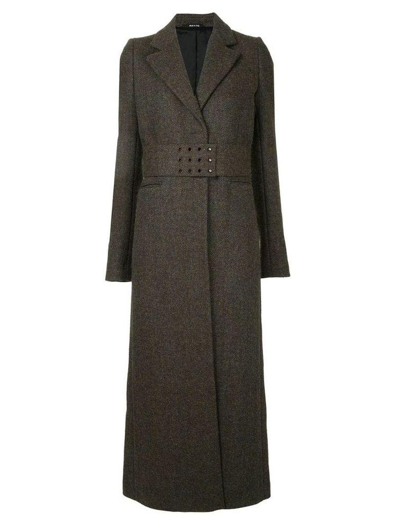 Maison Margiela tailored belted coat - Multicolour