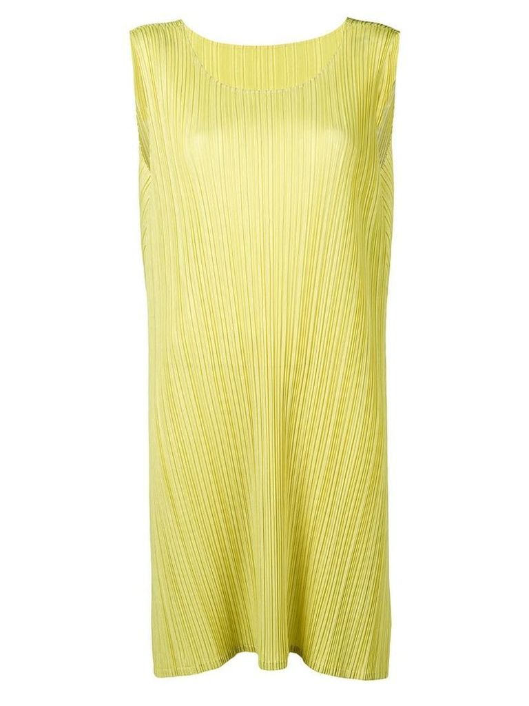 Pleats Please By Issey Miyake oversize ribbed top - Yellow