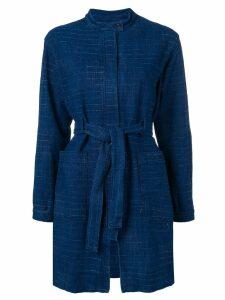 Cotélac belted rain coat - Blue