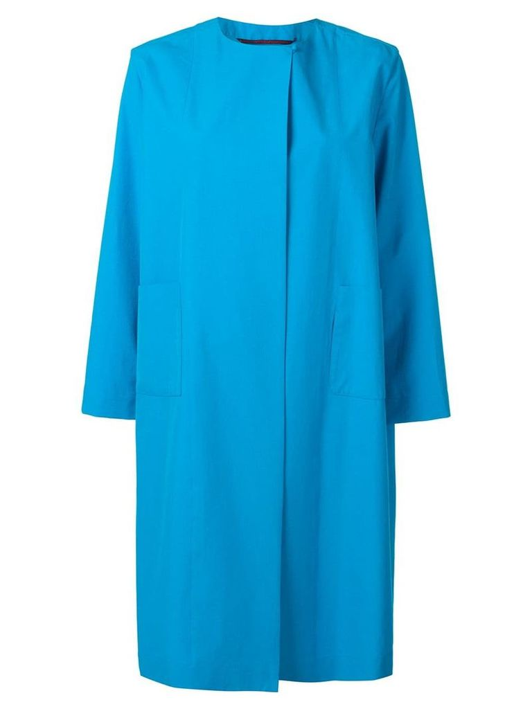 Daniela Gregis plain coat - Blue