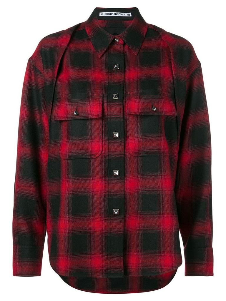 Alexander Wang tartan shirt - Red