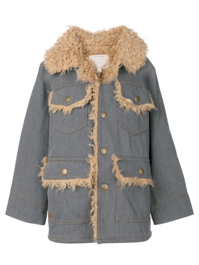 Marc Jacobs oversized patch pocket coat - Blue