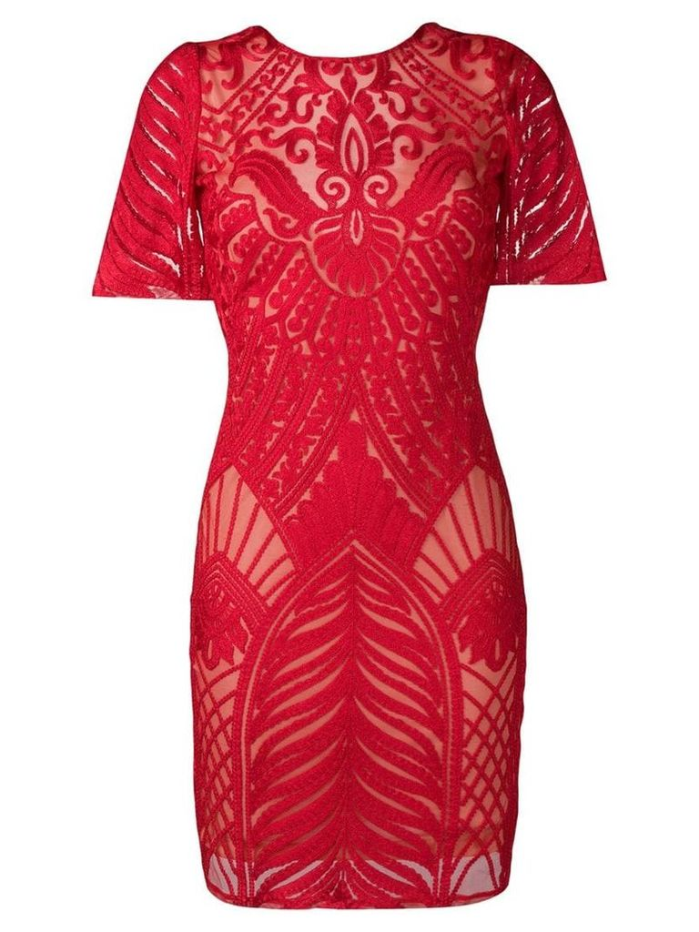Galvan Atlas mini dress - Red