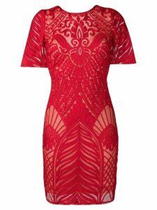 Galvan Atlas mini dress - Red