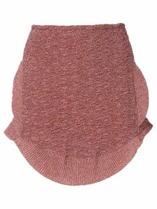 Esteban Cortazar metallic knit peplum skirt - Pink