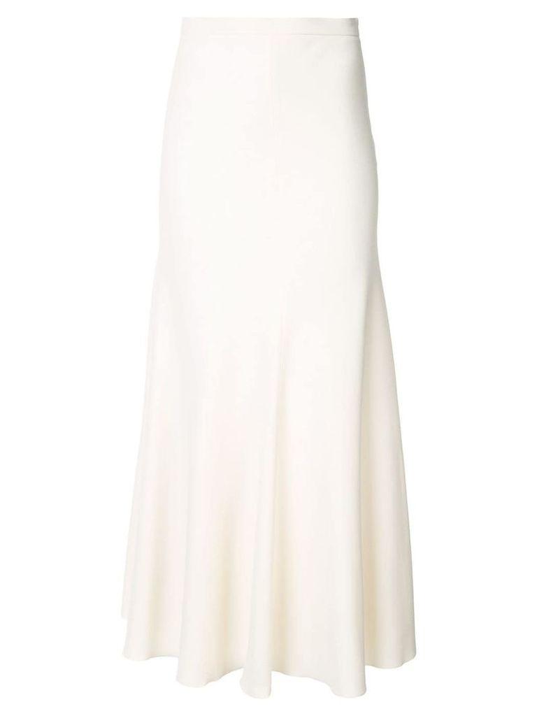 Giambattista Valli crepe midi skirt - White