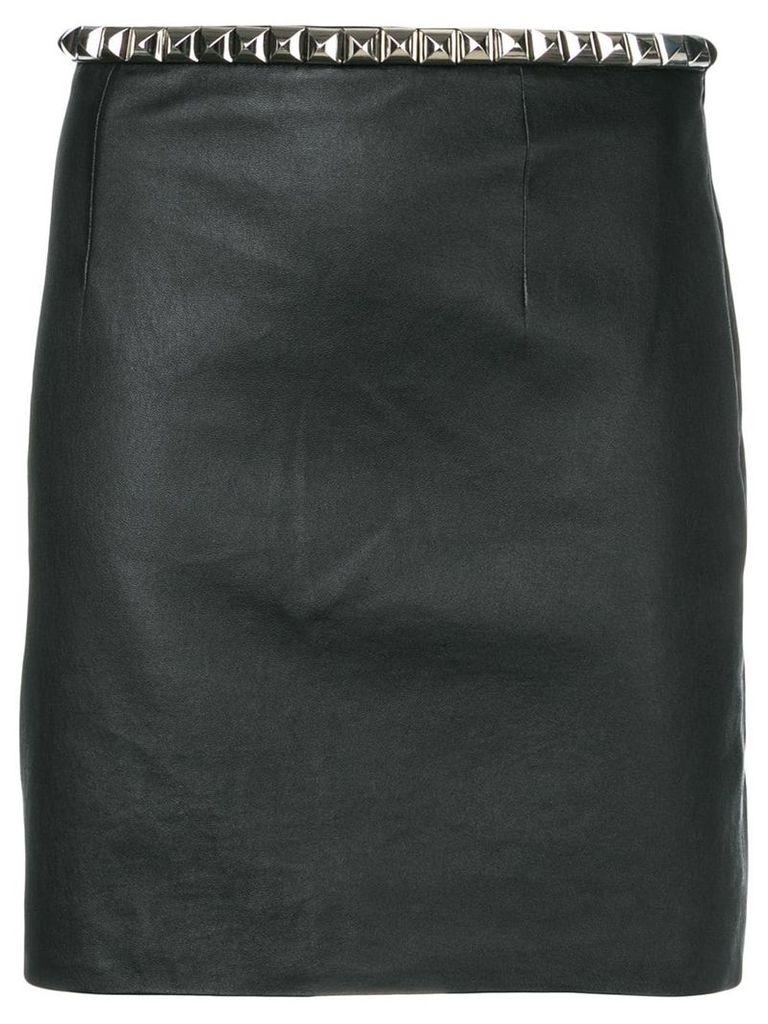 Alexander Wang fitted lambskin skirt - Black