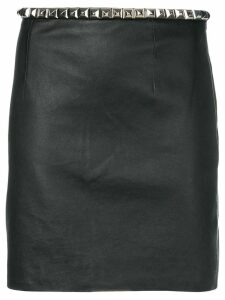 Alexander Wang fitted lambskin skirt - Black