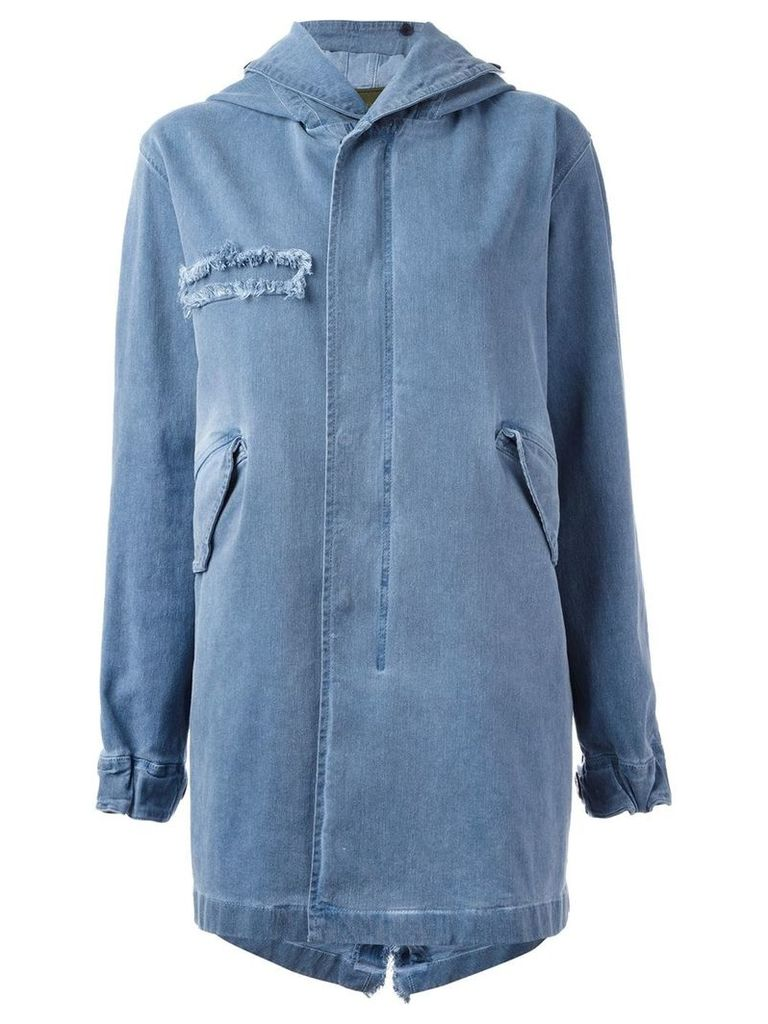Mr & Mrs Italy classic midi parka coat - Blue