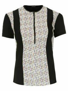 Tufi Duek zipped jacquard blouse - Black