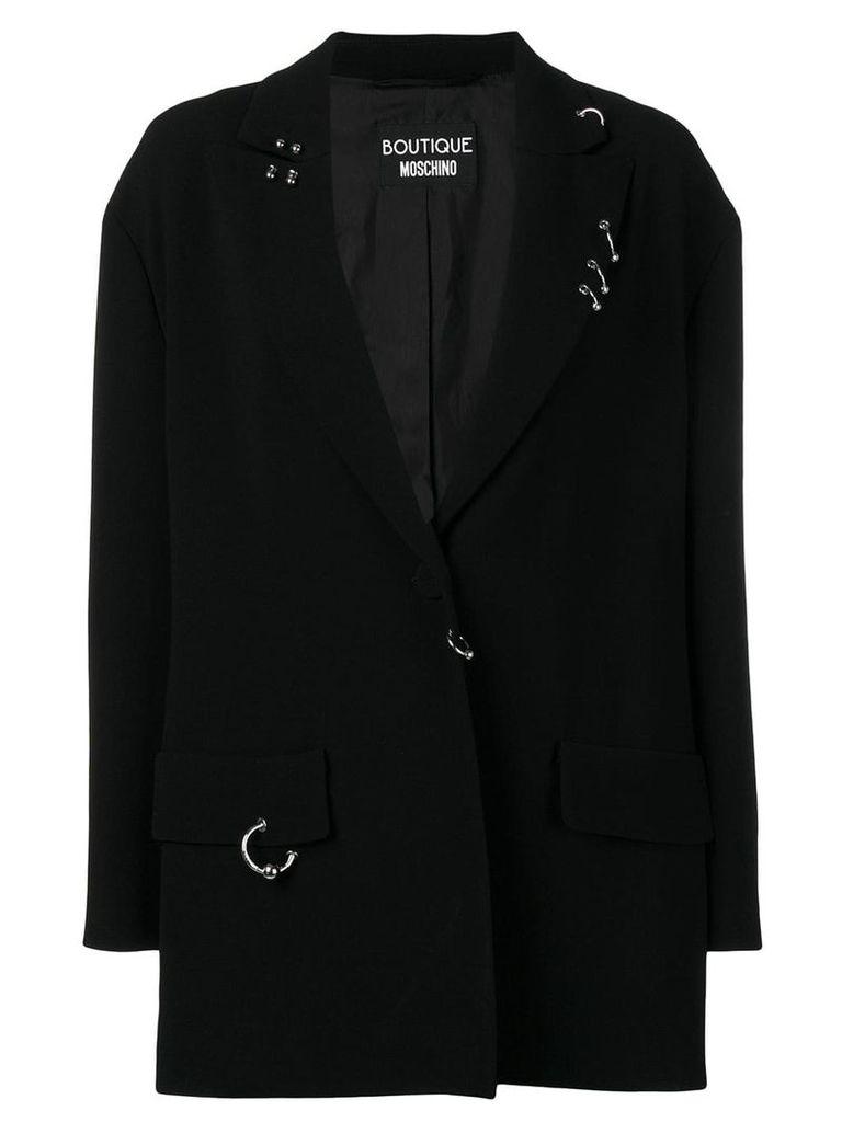 Boutique Moschino embellished blazer - Black