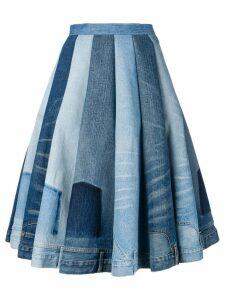 Junya Watanabe jean panel skirt - Blue