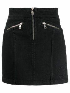 Karl Lagerfeld zip-up denim skirt - Black
