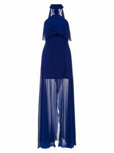 Tufi Duek long silk dress - Blue