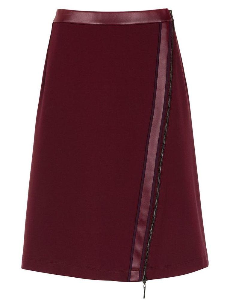 Tufi Duek skirt with zip detail - Red