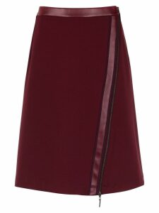 Tufi Duek skirt with zip detail - Red