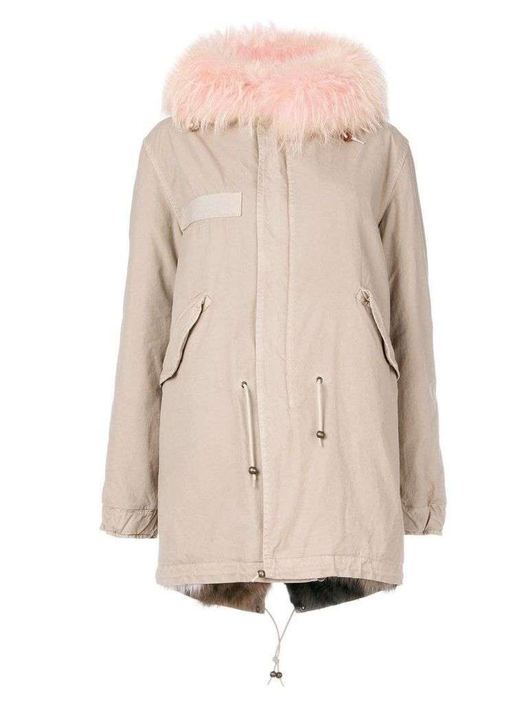 Mr & Mrs Italy midi parka coat - Neutrals