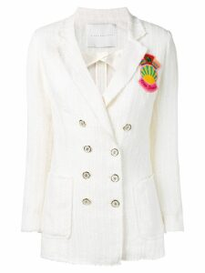 Giada Benincasa embroidered fitted blazer - White